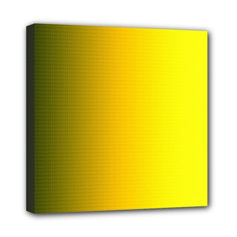 Yellow Gradient Background Mini Canvas 8  X 8  by Simbadda