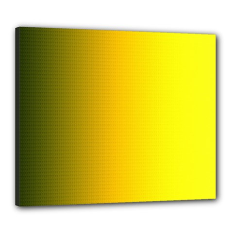 Yellow Gradient Background Canvas 24  X 20  by Simbadda