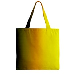 Yellow Gradient Background Zipper Grocery Tote Bag by Simbadda