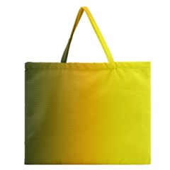 Yellow Gradient Background Zipper Large Tote Bag by Simbadda