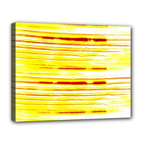Yellow Curves Background Canvas 14  X 11  by Simbadda