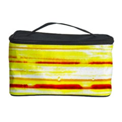 Yellow Curves Background Cosmetic Storage Case by Simbadda