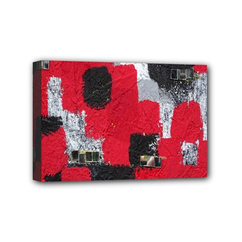 Red Black Gray Background Mini Canvas 6  X 4  by Simbadda
