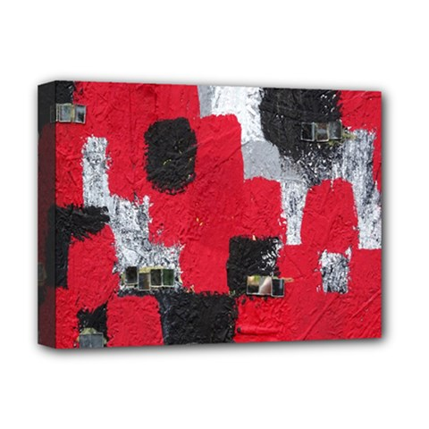 Red Black Gray Background Deluxe Canvas 16  X 12   by Simbadda