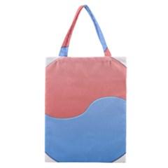 Taekwondo Sign Red Blue Classic Tote Bag by Alisyart