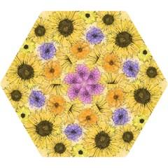 Multi Flower Line Drawing Mini Folding Umbrellas by Simbadda