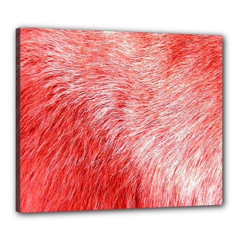 Pink Fur Background Canvas 24  X 20  by Simbadda