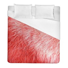 Pink Fur Background Duvet Cover (full/ Double Size)