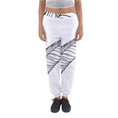 Feather Line Art Women s Jogger Sweatpants by Simbadda
