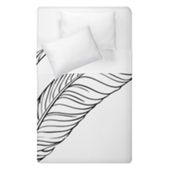 Feather Line Art Duvet Cover Double Side (single Size) by Simbadda