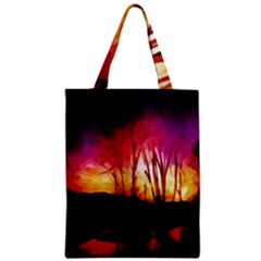 Fall Forest Background Classic Tote Bag by Simbadda