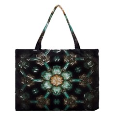 Kaleidoscope With Bits Of Colorful Translucent Glass In A Cylinder Filled With Mirrors Medium Tote Bag by Simbadda