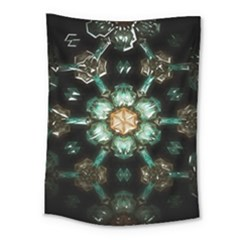 Kaleidoscope With Bits Of Colorful Translucent Glass In A Cylinder Filled With Mirrors Medium Tapestry by Simbadda