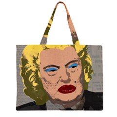Happy Birthday Mr  President  Zipper Large Tote Bag by Valentinaart