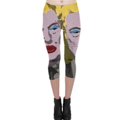 Happy Birthday Mr  President  Capri Leggings  by Valentinaart