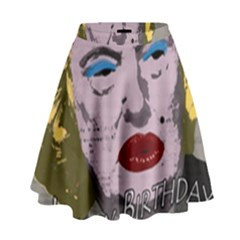 Happy Birthday Mr  President  High Waist Skirt by Valentinaart