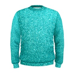 Tiffany Aqua Blue Glitter Men s Sweatshirt by PodArtist