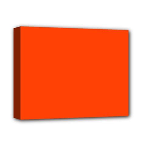 Bright Fluorescent Attack Orange Neon Deluxe Canvas 14  x 11  by PodArtist