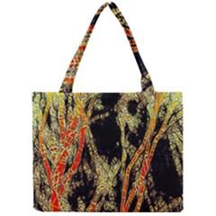 Artistic Effect Fractal Forest Background Mini Tote Bag