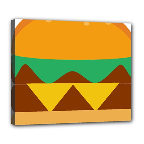 Hamburger Bread Food Cheese Deluxe Canvas 24  X 20   by Simbadda