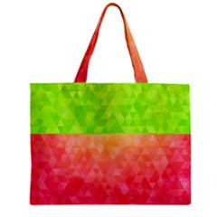 Colorful Abstract Triangles Pattern  Mini Tote Bag by TastefulDesigns