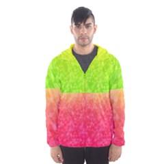 Colorful Abstract Triangles Pattern  Hooded Wind Breaker (men) by TastefulDesigns