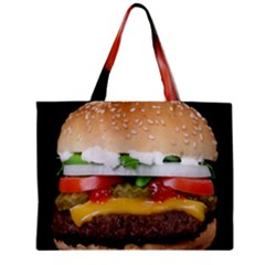 Abstract Barbeque Bbq Beauty Beef Zipper Mini Tote Bag by Simbadda