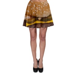 Cheeseburger On Sesame Seed Bun Skater Skirt by Simbadda