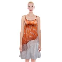 Abstract Angel Bass Beach Chef Spaghetti Strap Velvet Dress by Simbadda