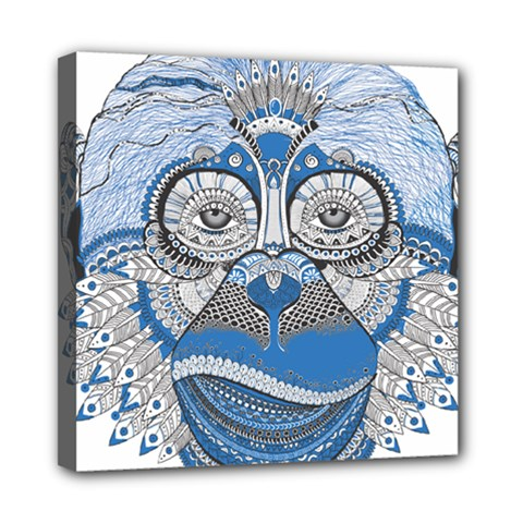 Pattern Monkey New Year S Eve Mini Canvas 8  X 8  by Simbadda