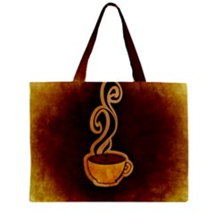 Coffee Drink Abstract Zipper Mini Tote Bag by Simbadda