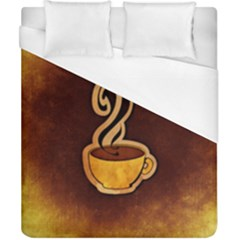Coffee Drink Abstract Duvet Cover (California King Size)
