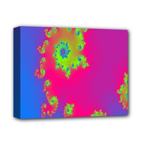 Digital Fractal Spiral Deluxe Canvas 14  X 11  by Simbadda