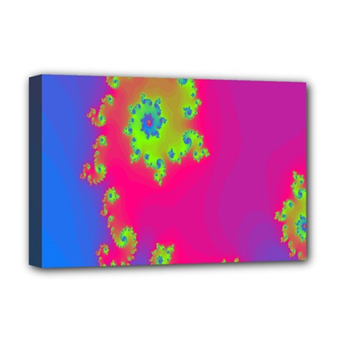 Digital Fractal Spiral Deluxe Canvas 18  X 12   by Simbadda