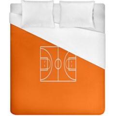 Basketball Court Orange Sport Orange Line Duvet Cover (california King Size) by Alisyart