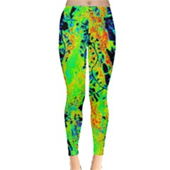 Bow Canopy Height Satelite Map Leggings  by Alisyart