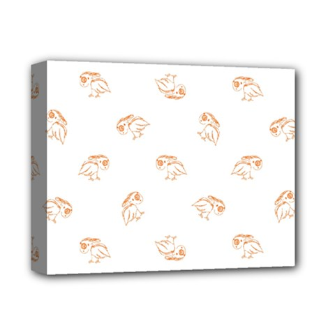 Birds Sketch Pattern Deluxe Canvas 14  X 11  by dflcprints