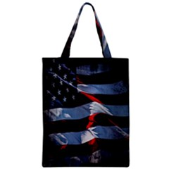 Grunge American Flag Background Classic Tote Bag by Simbadda