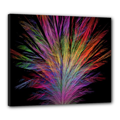 Fractal In Many Different Colours Canvas 24  X 20  by Simbadda