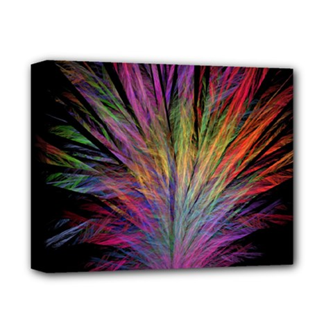 Fractal In Many Different Colours Deluxe Canvas 14  X 11  by Simbadda