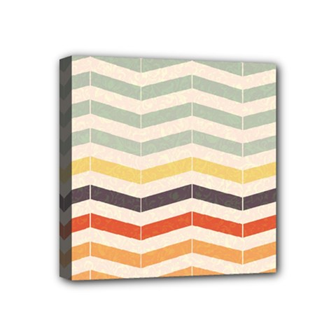 Abstract Vintage Lines Mini Canvas 4  X 4  by Simbadda