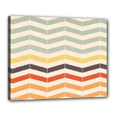 Abstract Vintage Lines Canvas 20  X 16  by Simbadda
