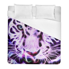 Fractal Wire White Tiger Duvet Cover (full/ Double Size)