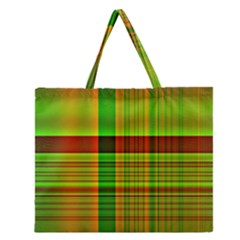 Multicoloured Background Pattern Zipper Large Tote Bag by Simbadda