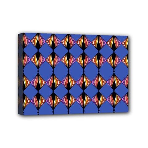 Abstract Lines Seamless Pattern Mini Canvas 7  X 5  by Simbadda