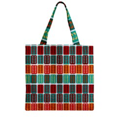 Bricks Abstract Seamless Pattern Zipper Grocery Tote Bag by Simbadda