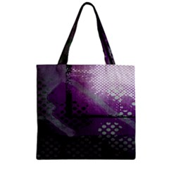 Evil Moon Dark Background With An Abstract Moonlit Landscape Zipper Grocery Tote Bag by Simbadda