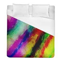 Colorful Abstract Paint Splats Background Duvet Cover (full/ Double Size) by Simbadda