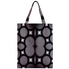 Mirror Of Black And White Fractal Texture Zipper Classic Tote Bag by Simbadda