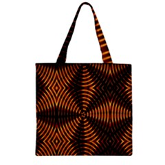 Fractal Pattern Of Fire Color Zipper Grocery Tote Bag by Simbadda